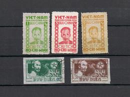 LOT 5 TIMBRES VIET NAM NEUF Et OBLITERES ,  1946 - Vietnam