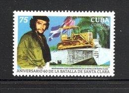 """Cuba 2018 C18-34 Santa Clara's Battle. Ernesto """"Che"""" Guevara MNH - Nuovi"""