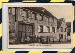 DPT 67 . - .  DAHLENHEIM. J. WINTZ - RESTAURANT AUX DEUX CLES. TELEPHONE, POSTE.BELLE ANIMATION. CIRCULEE EN 1939 - Francia