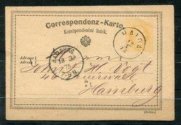 4656 - ÖSTERREICH - Ganzsache Von 1875 Aus Haida (Böhmen) Nach Hamburg - Briefe U. Dokumente