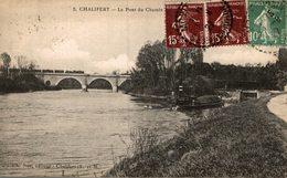 77 CHALIFERT  LE PONT DU CHEMIN DE FER ET L'ECLUSE - France