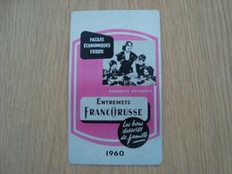 CALENDRIER EN METAL FRANCORUSSE 1960 - Calendars