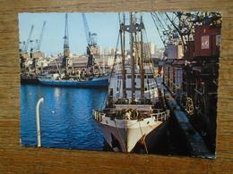 """Maroc , Le Port De Casablanca """""""" Beaux Petit Timbre Et Cachets """""""" - Casablanca"""
