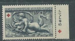 France N° 938 A XX Au Profit De La Croix-Rouge, Timbre Avec Bande Publicitaire, Sans Charnière, TB - Curiosités: 1950-59 Neufs