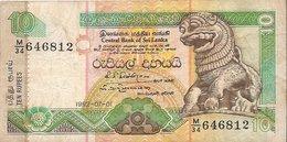 Billet Du Sri Lanka (Année 1992) - 10 ROUPIES (TEN RUPPEES) CENTRAL BANK OK SRI LANKA - Sri Lanka
