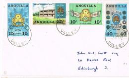 32705. Carta ANGUILLA VALLEY (Anguilla)  1969 To Edinburgh. Stamp SCOUTS - Anguilla (1968-...)