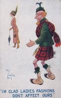 Scottish Fashions Reg Carter Comic Scotland Old Postcard - Humour
