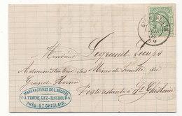 1875 BRIEF MET COB 30 V. St GHISLAIN N.St GHISLAIN Poste Restante Zie Scan(s) - 1869-1883 Léopold II