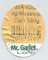 # MANGO Mc.GARLET - MEXICO Fruit Sticker Label Etiquette Etiqueta Adhesive Aufkleber Fruta Frucht - Fruits & Vegetables