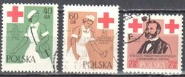 Poland 1959 - Red Cross -  Mi 1120-22 - Used - 1944-.... República