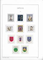 2003 MNH Lituania Year Collection Postfris** - Lituania