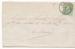 1875 BRIEF MET COB 30 V. St GHISLAIN N.HORNU Aankomst St GHISLAIN Zie Scan(s) - 1869-1883 Léopold II
