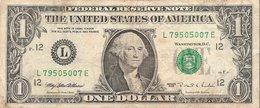 Etats-Unis (United States Of America) - Billet D' 1 Dollar (ONE DOLLAR) - Serie 1995 - Billet N° L79505007E - Billets Des États-Unis (1928-1953)