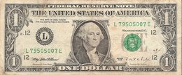 Etats-Unis (United States Of America) - Billet D' 1 Dollar (ONE DOLLAR) - Serie 1995 - Billet N° L79505007E - Biglietti Degli Stati Uniti (1928-1953)