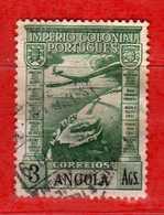 (Us.3) ANGOLA - ° 1938 - Aviation - Air Plane - P.A, Yvert. 6. Used - Usati.  Vedi Descrizione - Angola