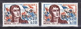 France 1371 Variété Panache Rouge Sur Chapeau Révolutionnaire Et Normal Mehul Neuf ** TB MNH Sin Charnela - Varieties: 1960-69 Mint/hinged