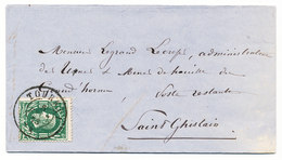 1873 BRIEF MET COB 30 V. TOURNAI N.St GHISLAIN Zie Scan(s) - 1869-1883 Leopold II