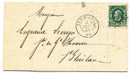 1873 BRIEF MET COB 30 V. JEMM APES N.St GHISLAIN Zie Scan(s) - 1869-1883 Leopold II