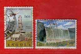 (Us.3) ANGOLA - ° 1938- Quadrireacteur  Aviation - Air Plane - P.A, Yvert. 16-17. Used - Usati.  Vedi Descrizione - Angola