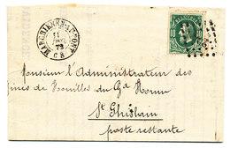 1873 BRIEF MET COB 30 V. MARCHIENNE-AU-PONT N.St GHISLAIN Zie Scan(s) - 1869-1883 Leopold II