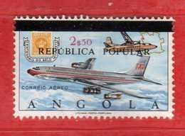 (Us.3) ANGOLA - ° 1980- Airmail  Aviation - Air Plane - P.A, Yvert. 26. Surchargés Used   Vedi Descrizione - Angola