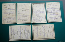 6 Menus Simples  - 1896/1905 - Menu