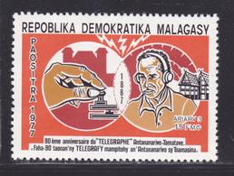 MADAGASCAR N°   617 ** MNH Neuf Sans Charnière, TB (D9020) 90e Anniversaire Du Télégraphe - 1977 - Madagascar (1960-...)