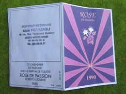 """Calendrier De Poche 1990 Coiffeur Messieurs """" Alain FORNAROLI """"  à Montargis Loiret - Calendars"""