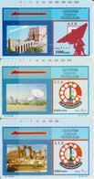 #09 - SYRIA-04 - SET OF 3 CARDS - SATELLITTE - RUINS - Siria