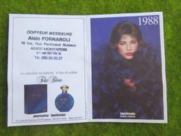 """Calendrier De Poche 1988 Coiffeur Messieurs """" Alain FORNAROLI """"  à Montargis Loiret - Calendars"""