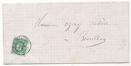 1877 BRIEF MET COB 30 V. NAMIR(STATION) N.BOUILLON Zie Scan(s) - 1869-1883 Léopold II