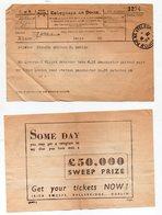 Dublin / Cuath (Irlande) Lot De 2 Télégrammes  1954 Avec Pub Au Verso (PPP18275) - Altri