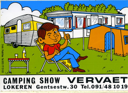 Sticker Autocollant Camping Show Vervaet In Lokeren Caravane - Autocollants