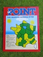 """Calendrier De Poche 1987     LE POINT """"Vacances Scolaires 87/88 - Calendars"""
