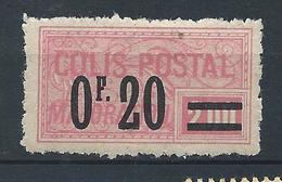 FRANCE - 1926 - Colis Postaux - Y.T. N°34 - 0 F. 20 Sur 2 F. Rose - Dentelé - Neuf* - TB - Colis Postaux