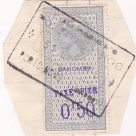 Timbre Fiscal Dahomey Médaillon De Tasset Grand Format Taxe Fixe - Sin Clasificación