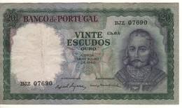 PORTUGAL  20 Escudos  P163a  (dated 26.07.1960) - Portugal