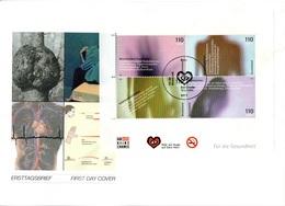 """BRD Großf. Schmuck-FDC """"Blockausgabe: Für Die Gesundheit"""", Mi. Block 54 ESSt 12.7.2001 BONN - FDC: Covers"""