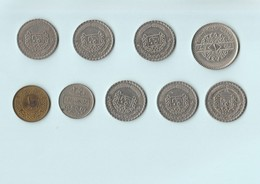 Syrie - Lot De 9 Pièces - 1 Pound 1979 - 10 Piastres - 50 Piastres - Syria