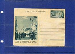 ##(DAN196)-Italia 1952-Cartolina Postale 30^ Fiera Di Milano L.20, Cat Filagrano C147 ,  Nuova Con Difetti - 6. 1946-.. Repubblica