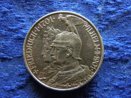 GERMANY PREUSSEN 2 MARK 1901, KM525 - 2, 3 & 5 Mark Silber