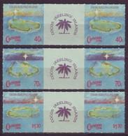 Cocos (Keeling) Islands, 1990, Christmas, Midle Row, MNH, Mi# 237/39 - Cocos (Keeling) Islands