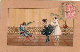 95Pp  Illustrateur Art Déco Nouveau Pierrot Et Colombine Taquins - Illustratori & Fotografie