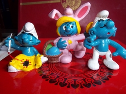 Figurine : Lot De 3 Figurines Schtroumpfs  Marque PEYO - Smurfs