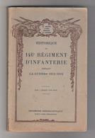 Historique 146e Régiment D'infanterie - 1914-18