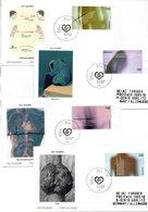 """BRD 4 Schmuck-FDC """"Für Die Gesundheit"""", Mi. 2200/2203 Aus Block 54 ESSt 12.7.2001 BERLIN ZENTRUM - FDC: Covers"""