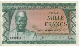 GUINEA 1000 Francs P15   Dated  1st Mars 1960 - Guinea