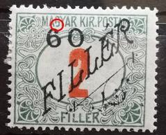 NUMBERS - PORTO - 60 FILL ON 2 - OVERPRINT - ERROR - RARE - SERBIAN OCCUPATION - HUNGARY - 1919 - Portomarken