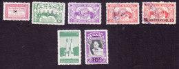 Panama, Scott #C146, C148, C150-C151, C154, C183, C188, Used, Herrera, Rotary, Monument, Surcharges, Issued 1953-57 - Panama