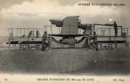 GUERRE EUROPEENNE DE 1914-1916 - Obusier Schneider De 200 M/m De Côte - (n°35). - Guerre 1914-18